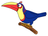 Dora-Senor-Tucan-on-branch