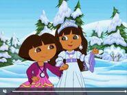 Dora The Explorer and Sabrina The Snow Princess