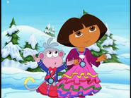 Dora and boots walkin