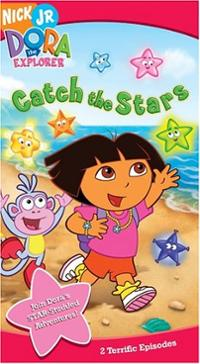 Dora-explorer-catch-stars-kathleen-herles-vhs-cover-art