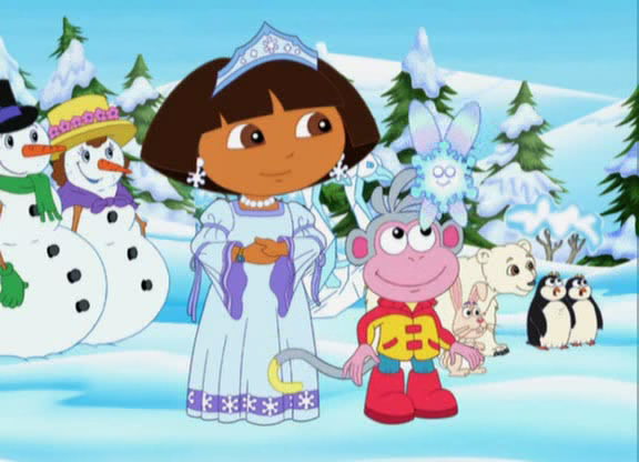 Dora saves the snow princess colouring pages coloring pages - Princesse dora ...