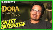 "DORA AND THE LOST CITY OF GOLD Michael Peña ""Dora's Father"" On-set Interview"