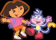 Dora-and-Boots-dancing-stock-art