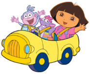 Dora-Tico-car-ride-stock-art