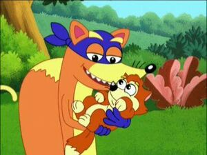 Swiper and the baby fox