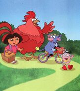Dora-Big-Red-Chicken-picnic