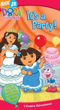 Dora-explorer-its-party-vhs-cover-art