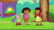 Dora boots meets little red riding hood