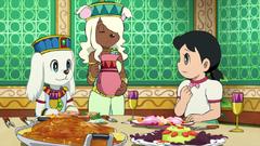Shizuka talking Kuntaku about bathroom
