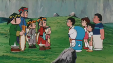 Temujin meet Nobita & friends