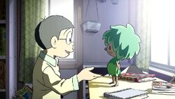 Kibou làm quen với Nobita