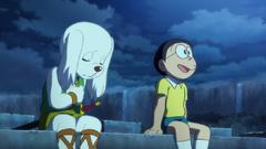 Nobita an ủi Kuntaku