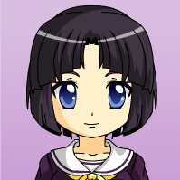 Asian cartoon violet