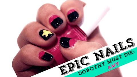 Nail Art Tutorial Inspired by The Wicked Will Rise Amy Gumm EpicReadsNailArt