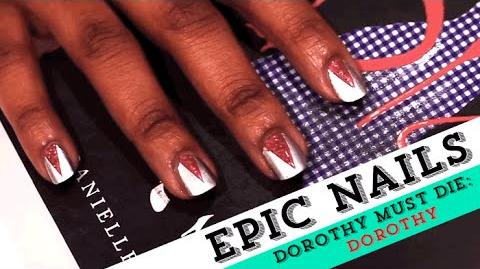 Nail Art Tutorial Inspired by The Wicked Will Rise Dorothy EpicReadsNailArt