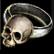 Dos obj anneau en crâne antique