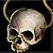 Dos obj amulette en crâne antique