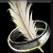 Dos obj anneau en plume fantaisiste