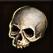 Dos obj crâne humain antique