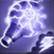 Dos obj tête de flèche à nuage électrique