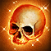 Dos obj crâne humain antique magique