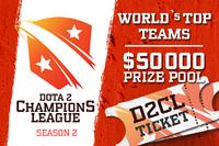 Dota 2 Champion's League Season 2 Ticket