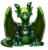 Pet green steam dragon