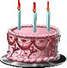 Anniversary cake pink