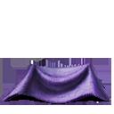 Wedding cloak scrap purple