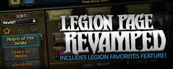 Scroller legion page revamp