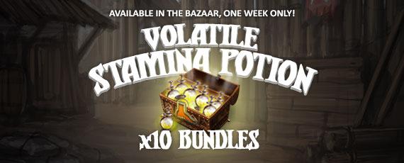 Scroller volatile stamina potion bundle