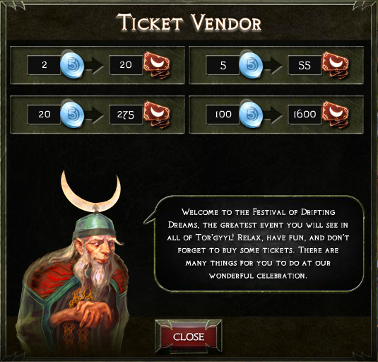 Fodd ticket vendor