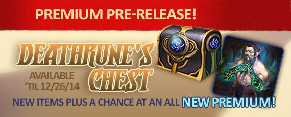 Scroller dotd premium pre-release deathrune chest