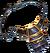 Neck obsidian talisman