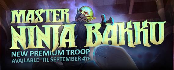 Scroller dotd premium troop master ninja bakku