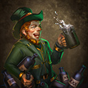 Blacked out leprechaun