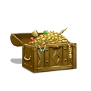 Heavy treasure chest brown