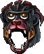 Helm black monkey warrior f