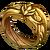 Ring golden dragon rider