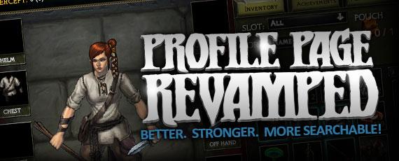 Scroller profile revamp