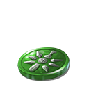 Crystal dawn coin green