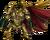 Chest golden dragon rider
