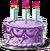 Anniversary cake purple