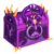 Crystal dawn chest purple orange