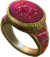 Ring red jaguar warrior