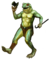 Pet dancing frog man static