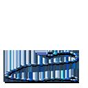 Crystalline bowstring blue