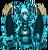 Blue steam-powered dragon familiar