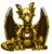 Gold steam-powered dragon familiar