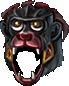Helm black monkey warrior
